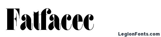 шрифт Fatfacec, бесплатный шрифт Fatfacec, предварительный просмотр шрифта Fatfacec