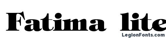 Fatima lite bold Font