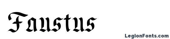 Шрифт Faustus