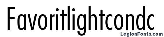 Favoritlightcondc Font, OTF Fonts