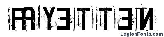 Fayetten font, free Fayetten font, preview Fayetten font