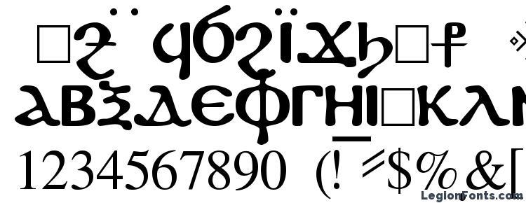 глифы шрифта Fayiumssk regular, символы шрифта Fayiumssk regular, символьная карта шрифта Fayiumssk regular, предварительный просмотр шрифта Fayiumssk regular, алфавит шрифта Fayiumssk regular, шрифт Fayiumssk regular