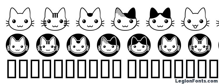 glyphs fb nyan font, сharacters fb nyan font, symbols fb nyan font, character map fb nyan font, preview fb nyan font, abc fb nyan font, fb nyan font