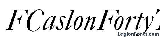 FCaslonFortyTwoAltsITC TT Font