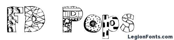 FD Pops Font