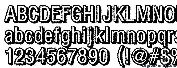глифы шрифта Fear, символы шрифта Fear, символьная карта шрифта Fear, предварительный просмотр шрифта Fear, алфавит шрифта Fear, шрифт Fear