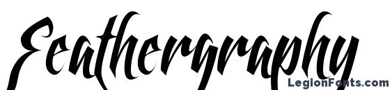 Feathergraphy Clean Font, Cursive Fonts