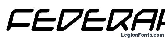 Шрифт Federapolis Bold Italic