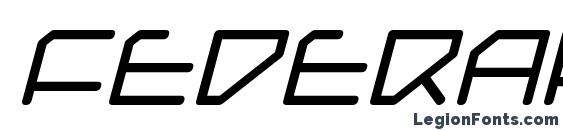 Federapolis Italic Font
