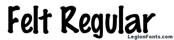 Шрифт Felt Regular