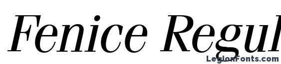 Fenice Regular Italic BT Font