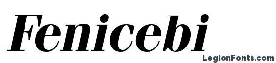 Шрифт Fenicebi