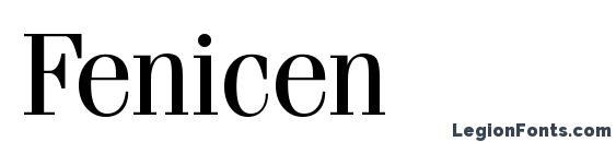 Шрифт Fenicen