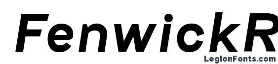 FenwickRg BoldItalic Font