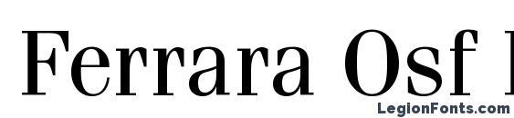 Шрифт Ferrara Osf Regular