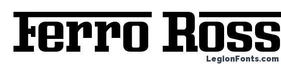 Ferro Rosso Font, Lettering Fonts