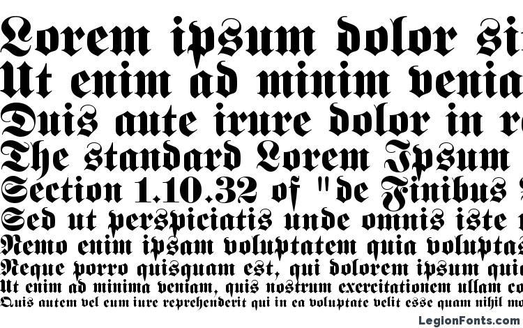 specimens Fette Fraktur LT font, sample Fette Fraktur LT font, an example of writing Fette Fraktur LT font, review Fette Fraktur LT font, preview Fette Fraktur LT font, Fette Fraktur LT font
