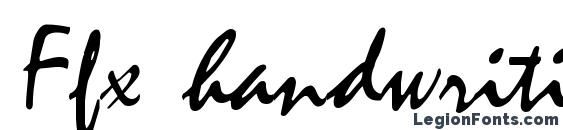 Ffx handwriting font, free Ffx handwriting font, preview Ffx handwriting font