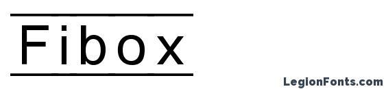 Fibox Font