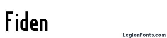 шрифт Fiden, бесплатный шрифт Fiden, предварительный просмотр шрифта Fiden
