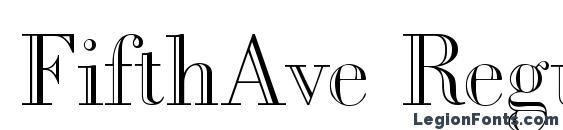 FifthAve Regular Font