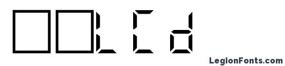 Шрифт Filcd