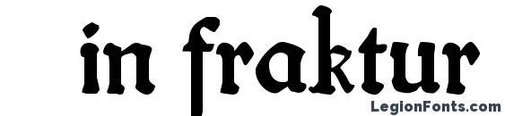Шрифт Fin fraktur