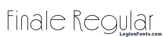 Шрифт Finale Regular