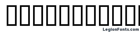 Шрифт Finalfiguredbassdemo