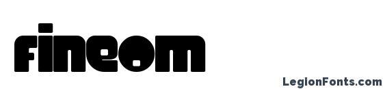 шрифт Fineom, бесплатный шрифт Fineom, предварительный просмотр шрифта Fineom