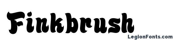 Шрифт Finkbrush