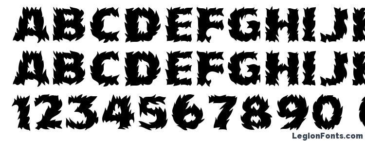 глифы шрифта Firecat Medium, символы шрифта Firecat Medium, символьная карта шрифта Firecat Medium, предварительный просмотр шрифта Firecat Medium, алфавит шрифта Firecat Medium, шрифт Firecat Medium