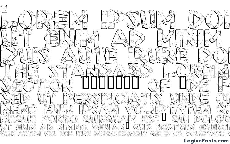 specimens First Aid font, sample First Aid font, an example of writing First Aid font, review First Aid font, preview First Aid font, First Aid font