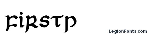 Шрифт Firstp