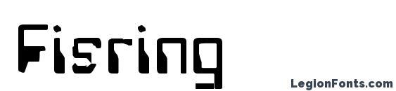 Шрифт Fisring
