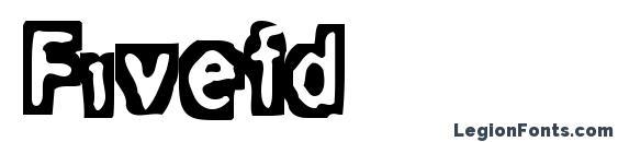 Шрифт Fivefd