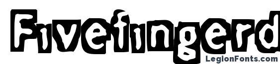 Шрифт Fivefingerdiscount