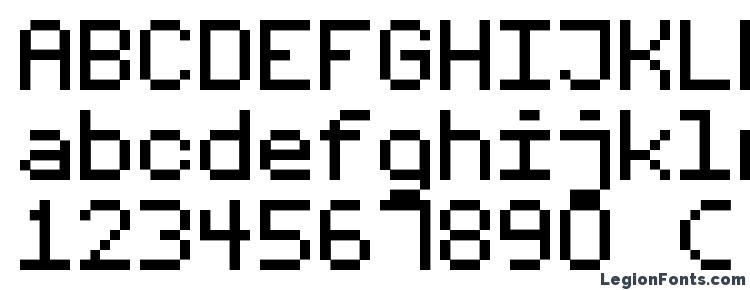глифы шрифта Fixed v01, символы шрифта Fixed v01, символьная карта шрифта Fixed v01, предварительный просмотр шрифта Fixed v01, алфавит шрифта Fixed v01, шрифт Fixed v01