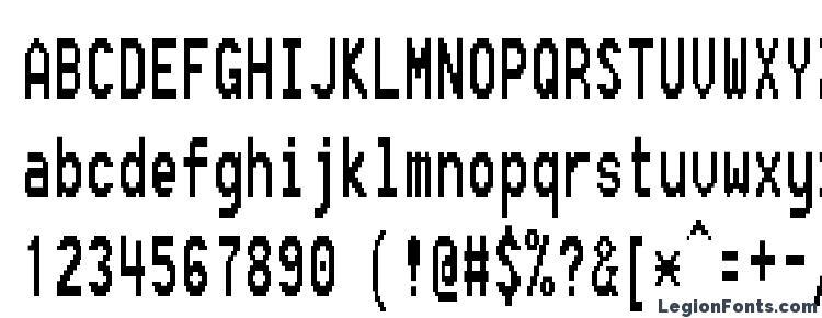 глифы шрифта Fixsysc, символы шрифта Fixsysc, символьная карта шрифта Fixsysc, предварительный просмотр шрифта Fixsysc, алфавит шрифта Fixsysc, шрифт Fixsysc