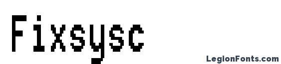Шрифт Fixsysc