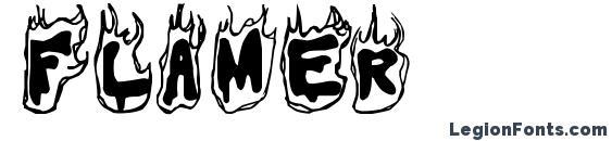 Flamer font, free Flamer font, preview Flamer font