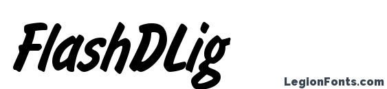 Шрифт FlashDLig