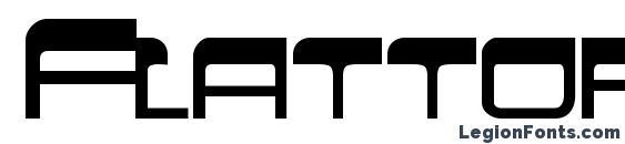 Flattopscapsssk bold Font