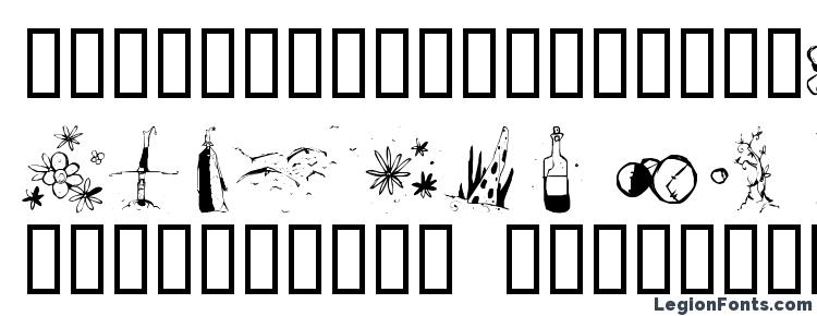 глифы шрифта Fleur aux dents, символы шрифта Fleur aux dents, символьная карта шрифта Fleur aux dents, предварительный просмотр шрифта Fleur aux dents, алфавит шрифта Fleur aux dents, шрифт Fleur aux dents