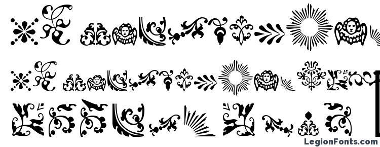 глифы шрифта Fleur, символы шрифта Fleur, символьная карта шрифта Fleur, предварительный просмотр шрифта Fleur, алфавит шрифта Fleur, шрифт Fleur