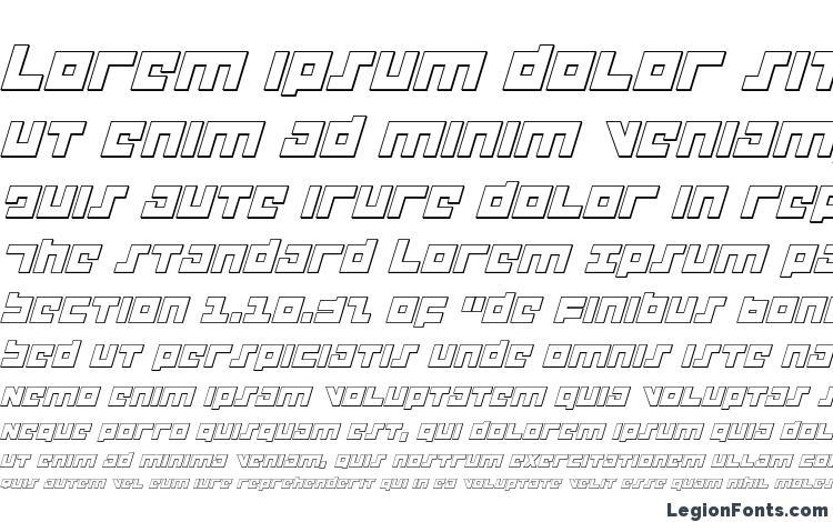 образцы шрифта Flight Corps 3D Italic, образец шрифта Flight Corps 3D Italic, пример написания шрифта Flight Corps 3D Italic, просмотр шрифта Flight Corps 3D Italic, предосмотр шрифта Flight Corps 3D Italic, шрифт Flight Corps 3D Italic