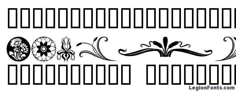 глифы шрифта Florals 2, символы шрифта Florals 2, символьная карта шрифта Florals 2, предварительный просмотр шрифта Florals 2, алфавит шрифта Florals 2, шрифт Florals 2