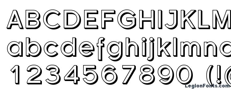 glyphs Florencesans Shaded font, сharacters Florencesans Shaded font, symbols Florencesans Shaded font, character map Florencesans Shaded font, preview Florencesans Shaded font, abc Florencesans Shaded font, Florencesans Shaded font