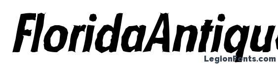 FloridaAntique BoldItalic Font