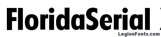 FloridaSerial Xbold Regular Font